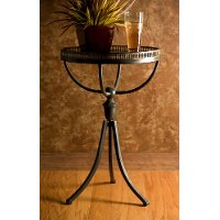 Enticing Tri-Footed Accent Table - Empire