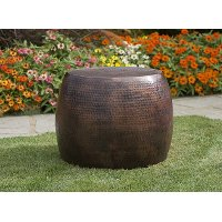 Nuria Hammered Short Accent Table
