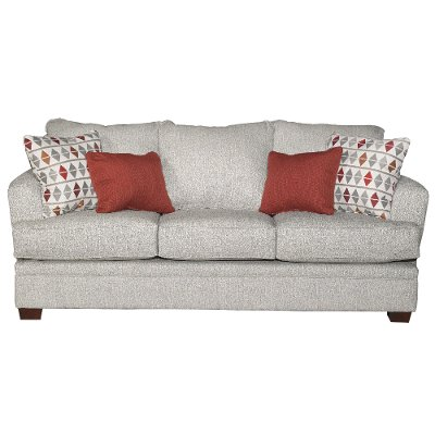 Casual Contemporary Marble Gray Sofa - Naomi