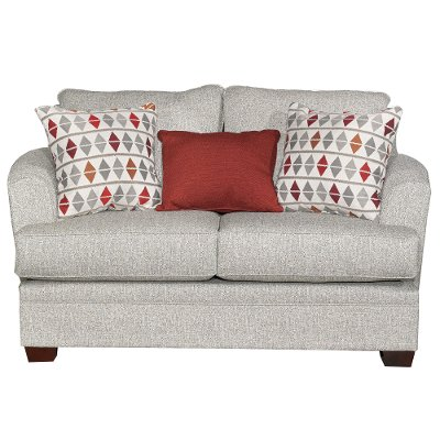 Casual Contemporary Marble Gray Loveseat - Naomi