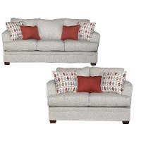 Contemporary Gray 2 Piece Living Room Set - Naomi
