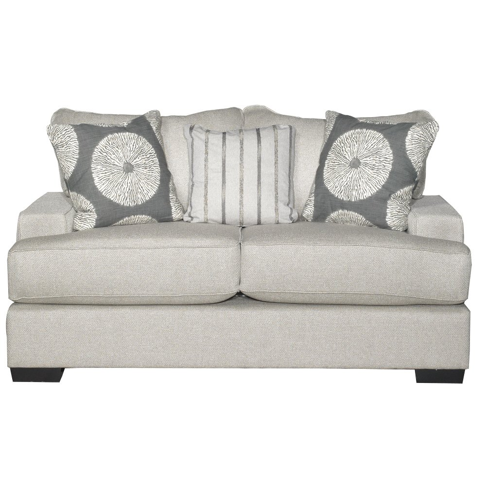 Casual Contemporary Flax Gray Loveseat   Raven | RC Willey Furniture Store