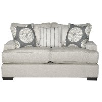Casual Contemporary Flax Gray Loveseat - Raven