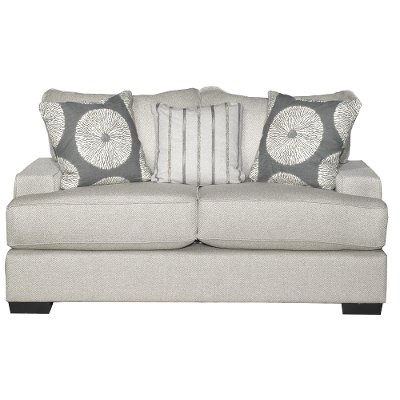 Casual Contemporary Flax Gray Loveseat   Raven