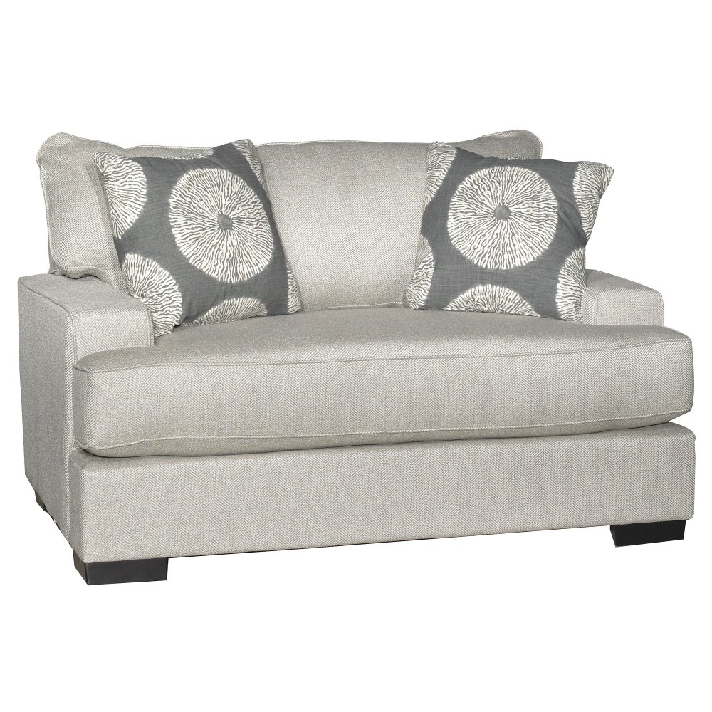... Casual Contemporary Flax Gray Chair   Raven