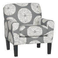Casual Contemporary White & Gray Accent Chair - Raven