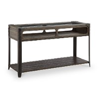 Chocolate Brown Glass Top Sofa Table - Rydale
