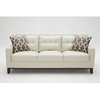 Contemporary Taupe Leather Sofa - Nigel