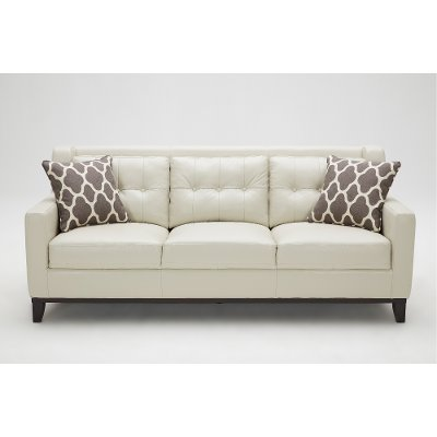 ... Contemporary Taupe Leather Sofa   Nigel