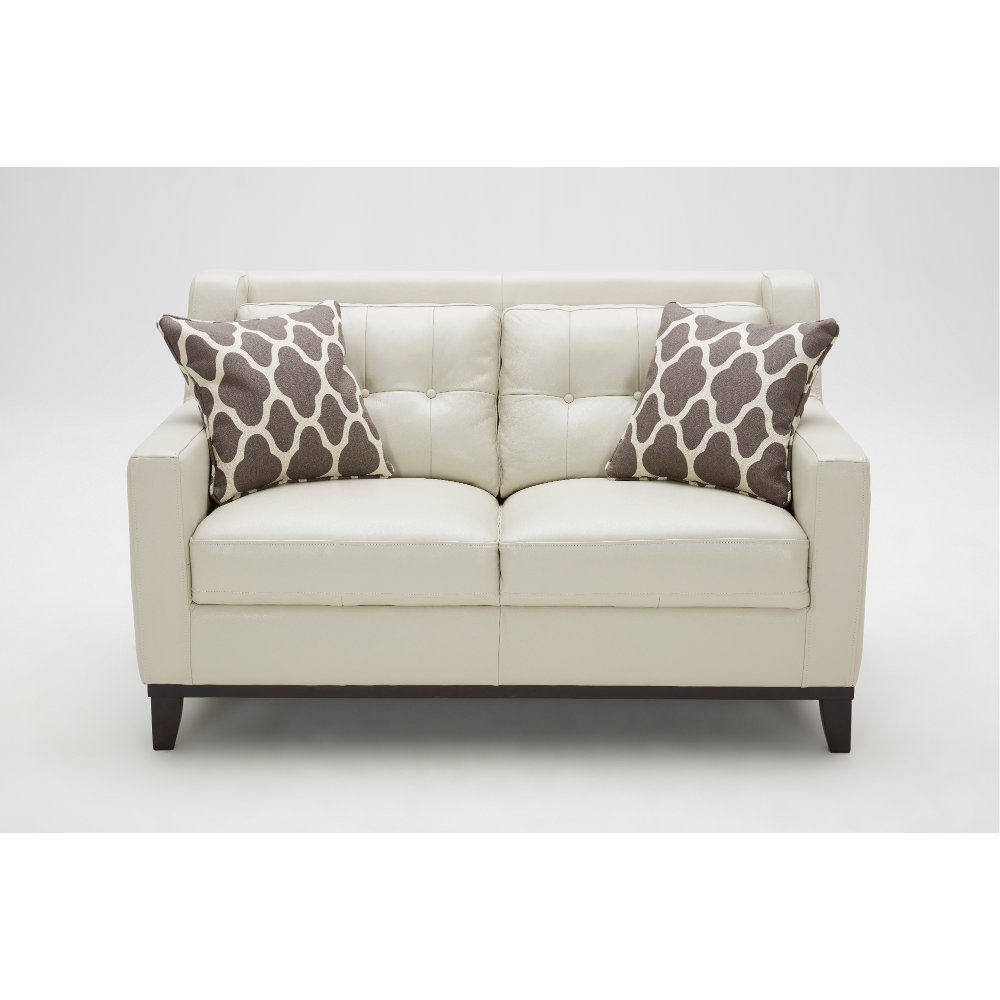 Taupe Leather Loveseat Nigel With Leather Loveseat
