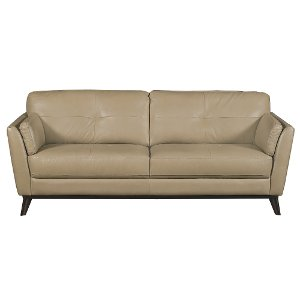 modern classic taupe leather sofa nolan