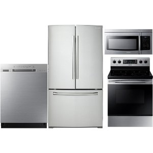 Delicieux ... KIT Samsung 4 Piece Kitchen Appliance Package   Stainless Steel