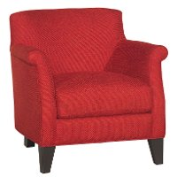 Classic Contemporary Crimson Red Accent Chair - Kate