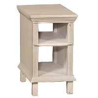Linen Chair Side Table - Smooth Reflections