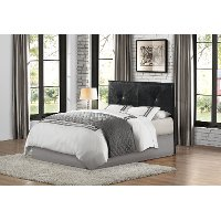 Black Upholstered Contemporary Full/Queen Headboard - Potrero