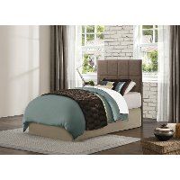 Brown Upholstered Contemporary Twin Headboard - Potrero