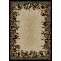 5 x 7 Medium Beige & Green Mount Le Conte Area Rug - American Destinations