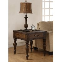 Weathered Oak Brown End Table - Bordeaux