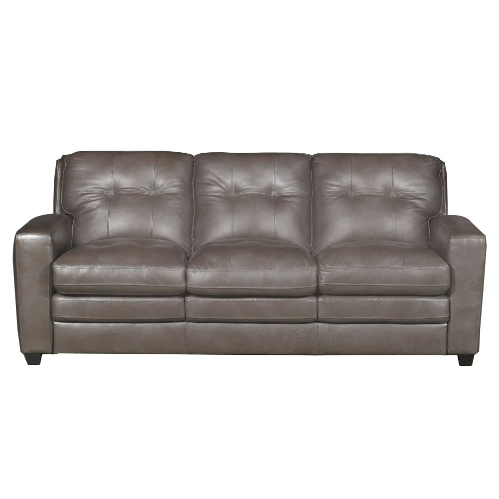 ... Modern Contemporary Bronze Leather Sofa   Roland ...