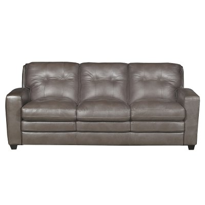 Modern Contemporary Bronze Leather Sofa   Roland