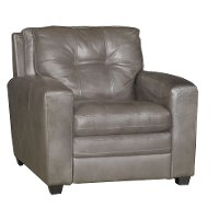 Contemporary Bronze Leather Chair - Roland
