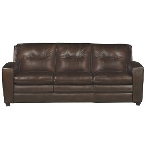 ... Modern Contemporary Mahogany Brown Leather Sofa Bed   Roland