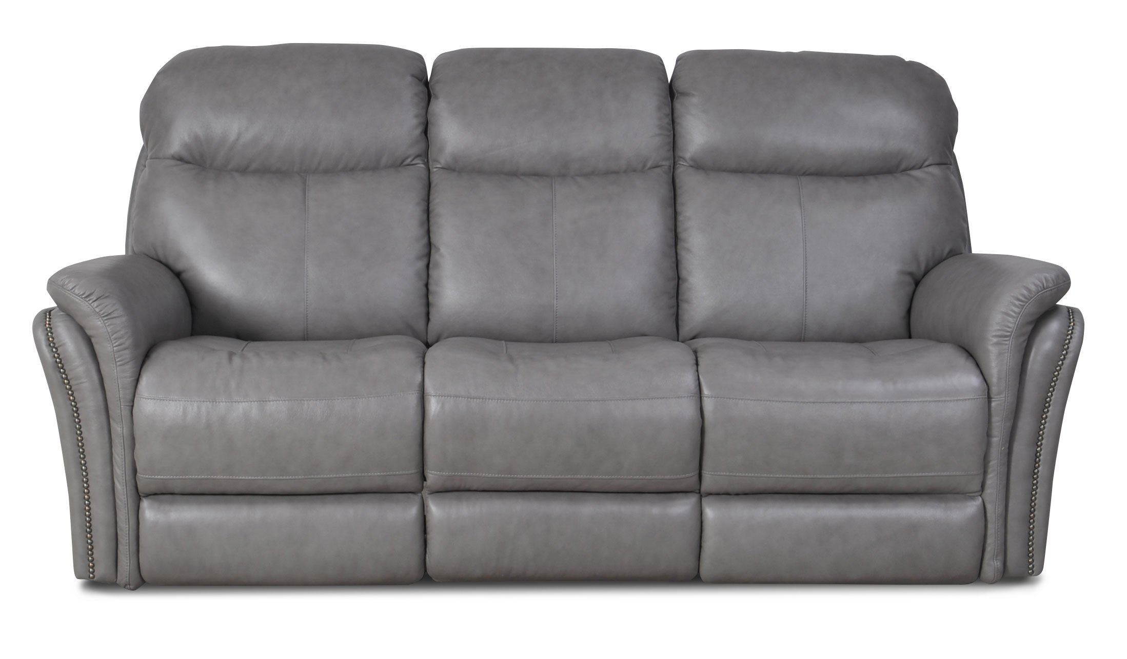 Gray Leather Match Power Reclining Sofa Loveseat Graham Rc Willey Furniture Store