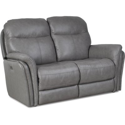 ... Gray Leather-Match Power Reclining Loveseat - Graham ...  sc 1 st  RC Willey & RC Willey has reclining loveseats for your living room islam-shia.org