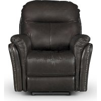 Walnut Brown Leather-Match Power Recliner - Graham