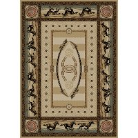 5 x 7 Medium Beige Cheyenne Area Rug - American Destinations