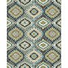 8 x 10 Large Cream & Turquoise Blue Rug - Brookwood
