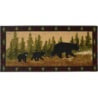 2 x 4 X-Small Following Mama Brown Area Rug - Cozy Cabin