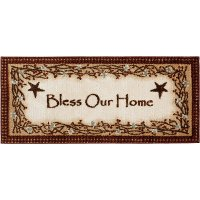 2 x 4 X-Small Bless Our Home Brown Area Rug - Cozy Cabin