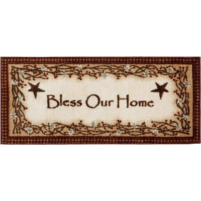 2 x 4 X Small Bless Our Home Brown Area Rug   Cozy Cabin. 2 x 4 X Small Bless Our Home Brown Area Rug   Cozy Cabin   RC