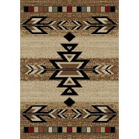 5 x 7 Medium Rio Grande Antique Brown Area Rug - Hearthside