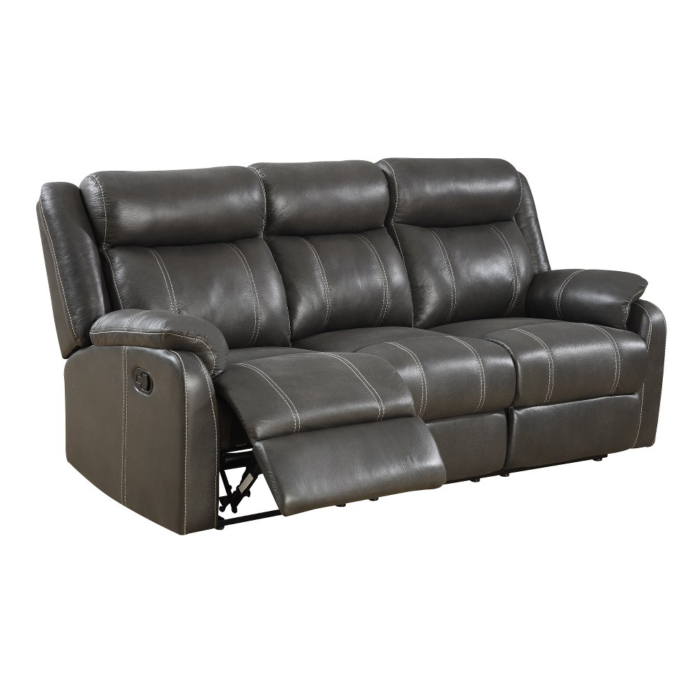Amazing Valor Carbon Black Dual Reclining Sofa   Domino | RC Willey Furniture Store