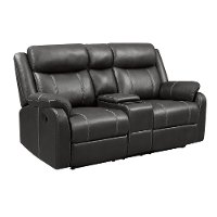 Valor Carbon Gray Reclining Loveseat - Domino