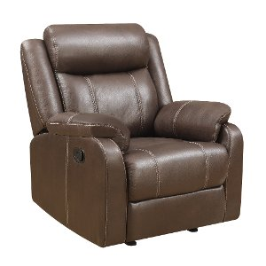 valor chocolate brown gliding recliner domino