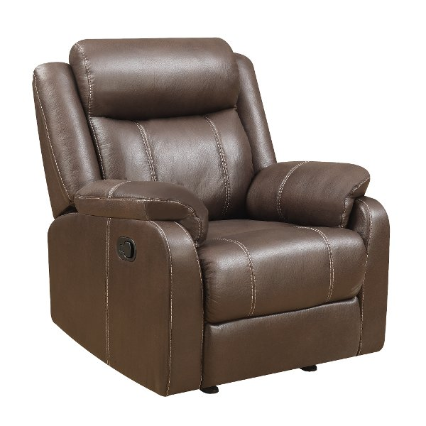 ... Valor Chocolate Brown Gliding Recliner   Domino