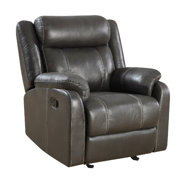 ... Valor Carbon Gray Gliding Recliner   Domino