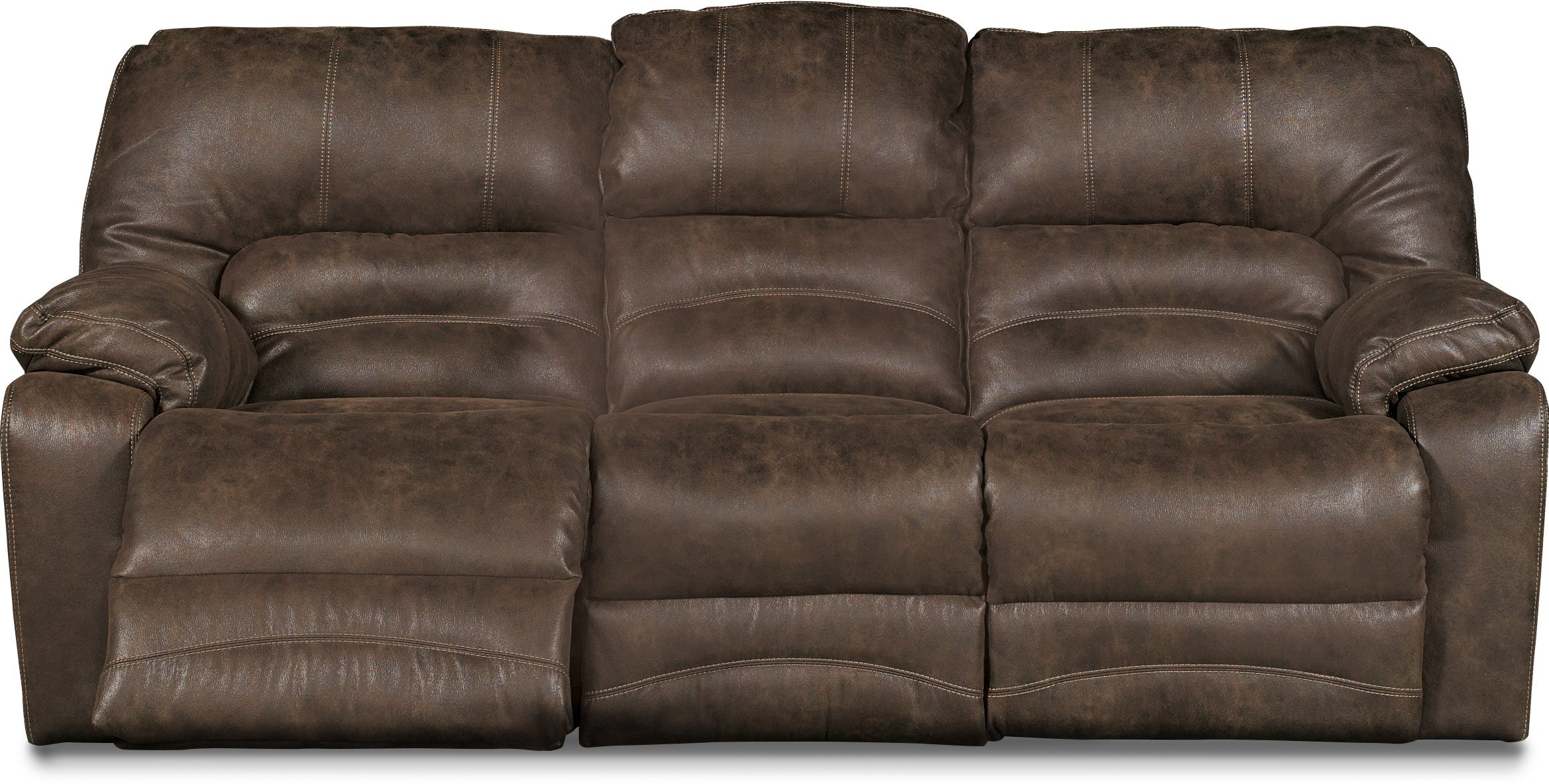 Chocolate Brown Microfiber Power Reclining Sofa   Legacy