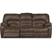 Chocolate Brown Microfiber Power Reclining Sofa - Legacy