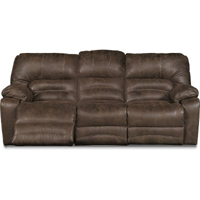 Delicieux Chocolate Brown Microfiber Power Reclining Sofa   Legacy