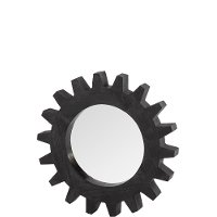 Rustic Black Cog Mirror