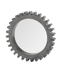 Rustic Gray Cog Mirror