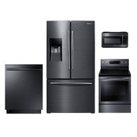 SUG-KIT Samsung Black Stainless Steel Electric Kitchen Appliance Package