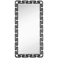 Black Lacquer Beveled Leaner Mirror