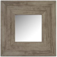 Washed Wood Square Mirror