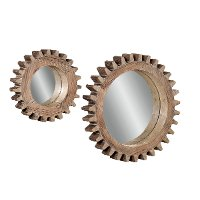 16 Inch Sprocket Wall Mirror