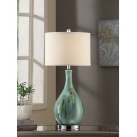 Blue-Green Sea Scape Table Lamp